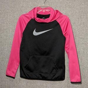 Nike Girl's Pink/Black Fleece Pullover w/Hood